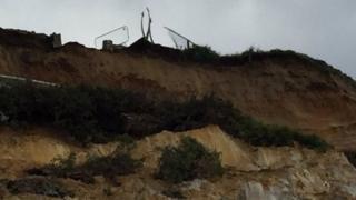 Cliff fall near John Egging Memorial