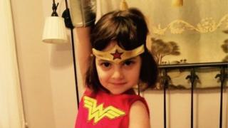Rosie, 5, as Wonder Woman