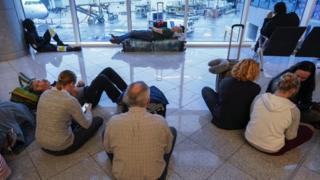 Passengers at Hartsfield-Jackson airport