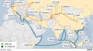 """""""一帶一路""""基於古絲綢之路而設計,希望推進中國經濟走向世界。"""