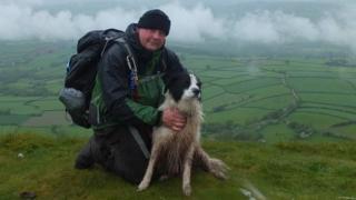Jeremy Prescott and his dog Charlie