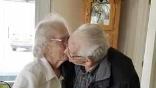 Herbert and Audrey Goodine say goodbye for the first time in 73 years