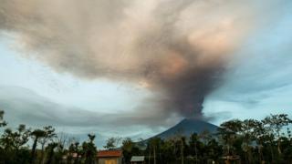 印度尼西亚巴厘岛的阿贡火山