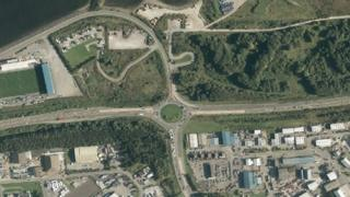 Aerial image of Longman Roundabout