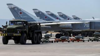 Suriye'de Rus uçakları