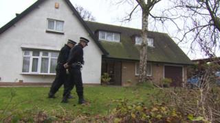 Police search at Freckleton vicarage