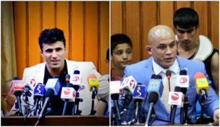 احمد ولی هوتک (چپ) چلنچ داد اما بارز محمد مبارز به سختی از مسابقه صرف نظر کرد