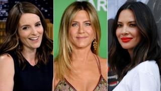 Tina Fey, Jennifer Aniston and Olivia Munn