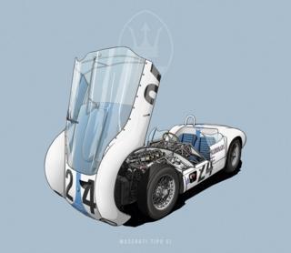 """Maserati Tipo 61 - """"Jaula de Pájaros"""""""