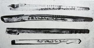 Некоторые ивовые палочки использовались британским казначейством в качестве долговых расписок до 1826 года