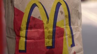McDonalds take-away bag