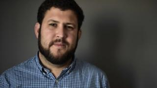 Venezuelan exile David Smolansky poses for a picture following an interview with AFP in Washington, DC, on November 24, 2017
