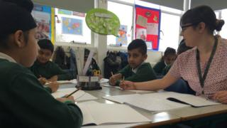 Year 4 pupils in a lesson at George Betts Primary Academy