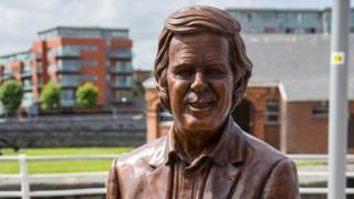 Bronze sculpture of Sir Terry Wogan