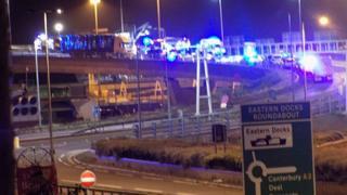 Scene of collision in Dover