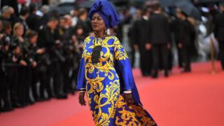 "Burundian singer and member of the Feature Film Jury Khadja Nin arrives on May 16, 2018 for the screening of the film ""Burning"" at the 71st edition of the Cannes Film Festival in Cannes, southern France."