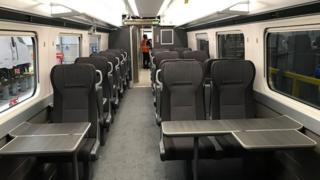 A first class carriage in one of the new trains