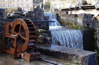 A mill and water