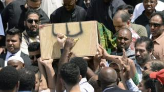 Mourners carry the casket of Abdirahman Abdi in Ottawa, Canada. Photo: 29 July 2016