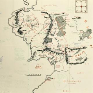 Middle-earth annotated map