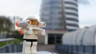 Lego Man at Leicester Space Centre
