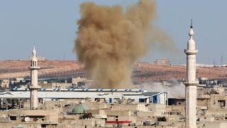صورة تفجير في الجزء الشرقي من حلب