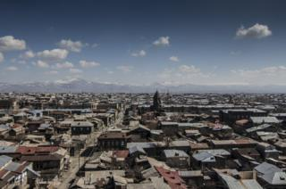 View of Domik neighbourhood in Armenia