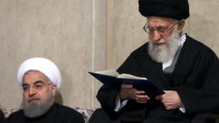 آیتالله خامنهای و حسن روحانی