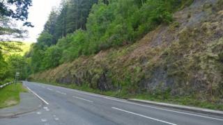 The A487 hillside