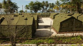 The detention centre on Manus Island