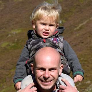 Dominic Jackson and nephew