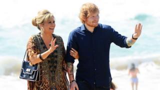 Ed Sheeran and Emily Symons