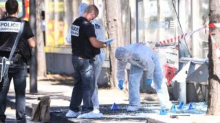 Site of bus stop death in Marseille
