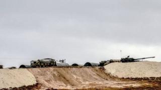 نیروهای ترکیه در نزدیکی مرز سوریه
