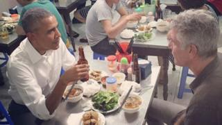 Obama and Bourdain