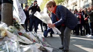 Место нападения в Париже