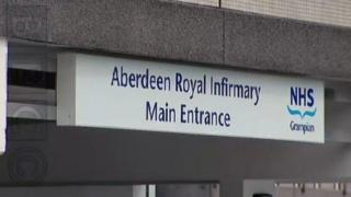 Aberdeen Royal Infirmary sign