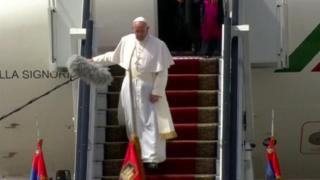 """Papa Francis yavuze ko """"urugendo rwiwe ari urw'ubumwe n'ubuvandimwe"""""""