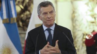 Mauricio Macri during press conference in Buenos Aires, 21 November 2016