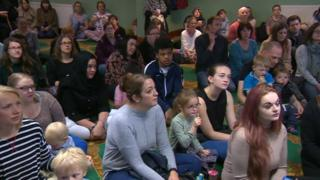 Visitors to Thornaby Mosque