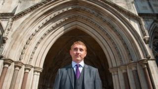 Jon Platt outside the Royal Courts of Justice