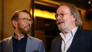 Bjorn Ulvaeus and Benny Andersson from Abba
