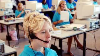 Call centre staff