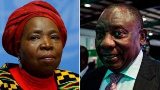 Nkosazana Dlamini Zuma et Cyril Ramaphosa