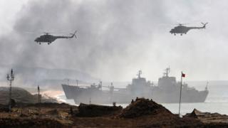 Российские военные учения в Крыму