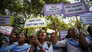 Demonstration against rape in India
