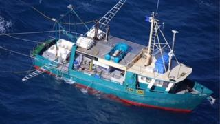 A photo of the fishing trawler taken before it ran into trouble