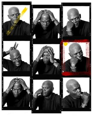 Samuel L Jackson portrait contact sheet