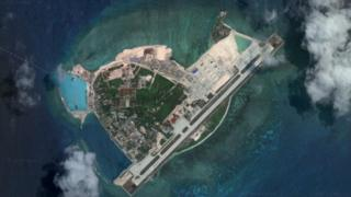 Satellite image of Woody Island