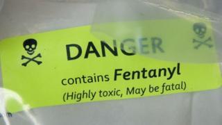Fentanyl in a bag